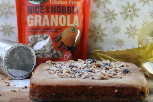 Simple Christmas gluten-free and vegan treat: Mincemeat granola slice