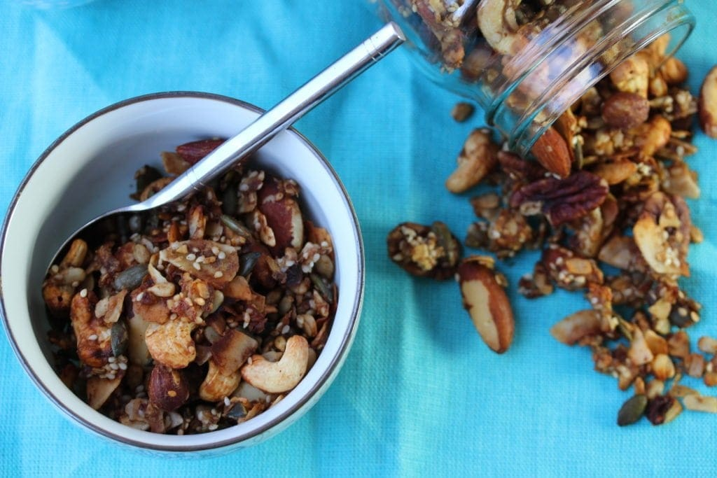 A gluten-free, low carb, sugar-free granola recipe. Perfect to get back in shape after Christmas!