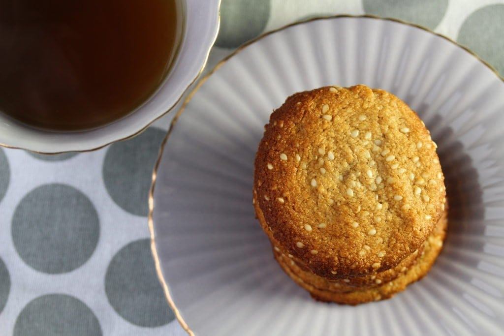 Paleo ginger and sesame cookies