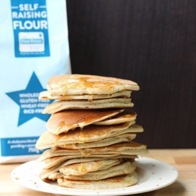 Easy Pancakes in a Jar (Gluten-free, Dairy-free) #FreeFromPancakes