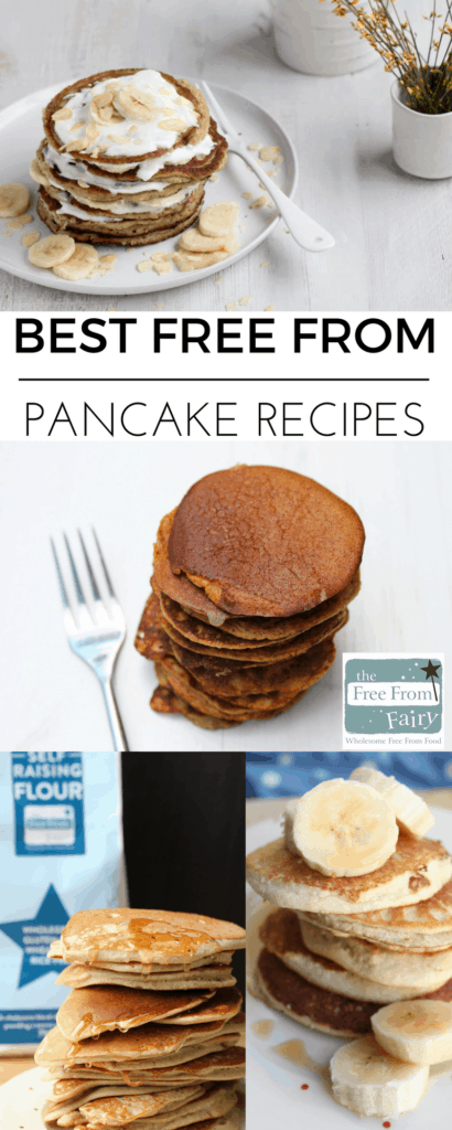 The best free from pancake recipes from across the web, featuring gluten-free, dairy-free, egg-free, nut-free, soya-free, low FODMAP, vegan, sugar-free and paleo recipes! You'll find something to make this Shrove Tuesday.