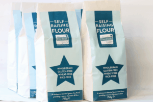 Self-raising wholegrain gluten and rice free flour blend from the Free From Fairy