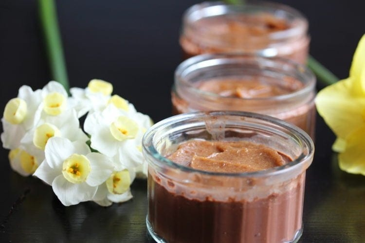 Chocolate & Salted Caramel Pots For Mothers Day (Gluten-Free, Dairy-Free, Egg-Free, Low Sugar)