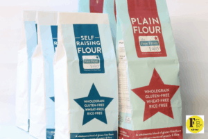 Mixed pack wholegrain gluten and rice free flour from the Free From Fairy