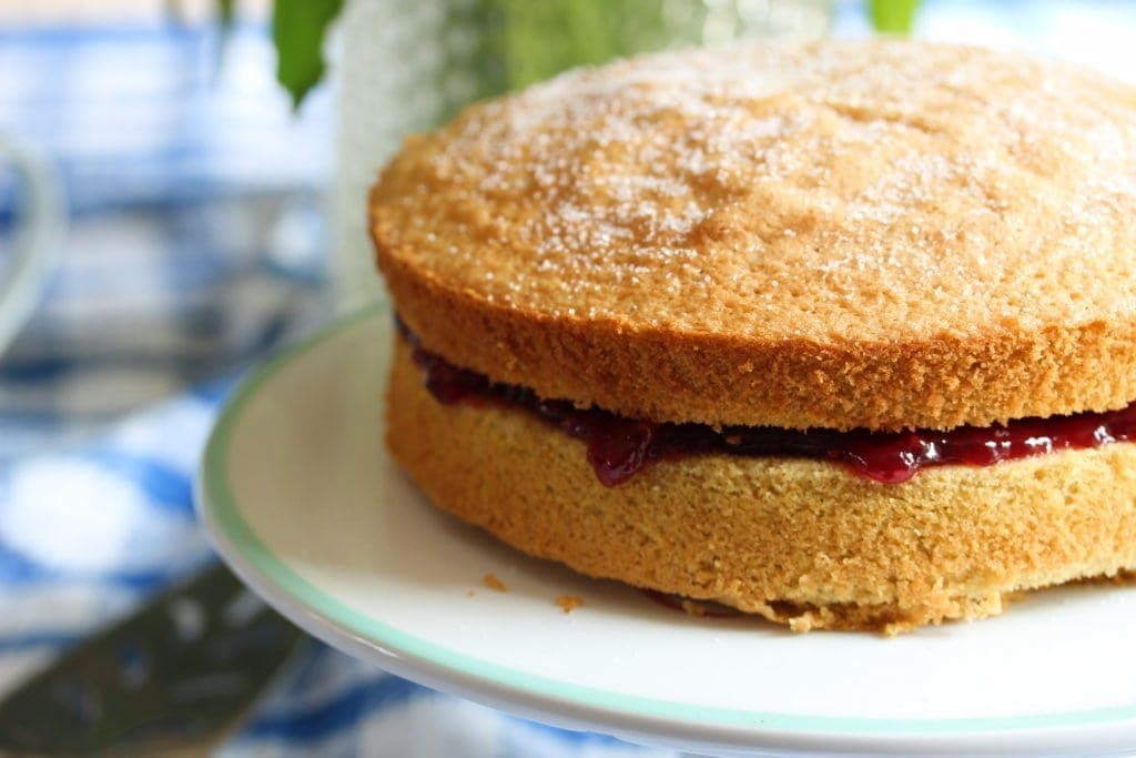 Perfect gluten-free and dairy-free Victoria sponge recipe made with the Free From Fairy's wholegrain gluten free flour self raising flour blend
