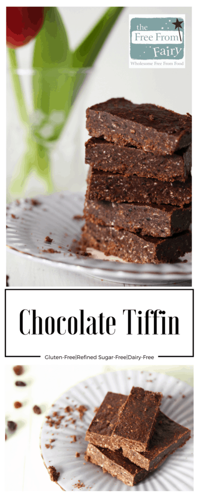 Chocolate tiffin recipe - gluten-free, dairy-free, egg-free, nut-free, soya-free and refined sugar-free. Not only that it is high in protein being made (optionally) with insect flour. Such a simple recipe...totally delicious results!