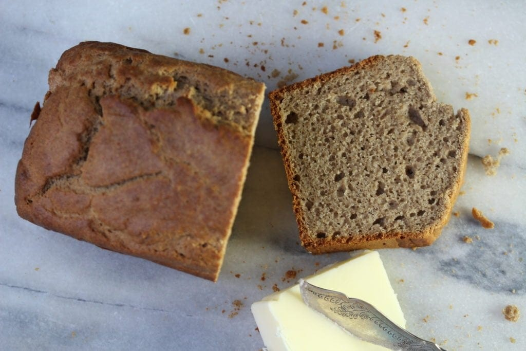 Naturally sweetened banana cake made with wholegrain gluten and rice free flour from the Free From Fairy