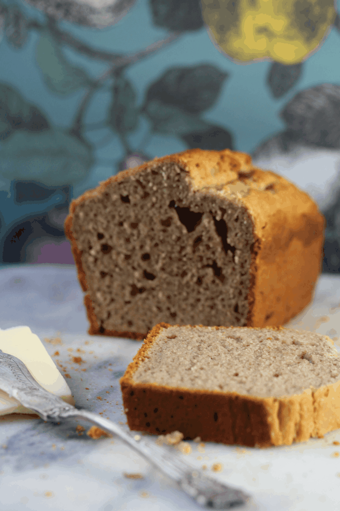 Simple gluten, dairy and sugar free banana bread made with wholegrain gluten free flour from the Free From Fairy