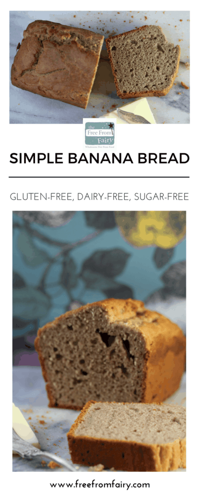 Make this simple gluten free dairy free banana bread with the Free From Fairy's wholegrain gluten-free self raising flour. Add all the ingredients together, mix and bake. Simple recipe but full of goodness and perfect for breakfast on the run!