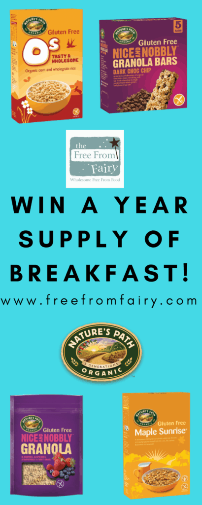 Win a years supply of breakfast cereals with Nature's Path and The Free From Fairy...