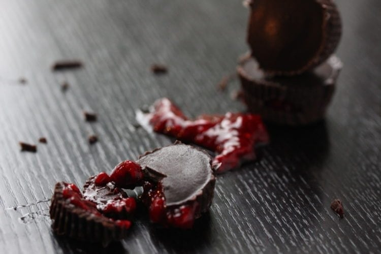 Raspberry ('Blood') Chocolates For #FreeFromHalloween (Vegan; Refined Sugar-Free)