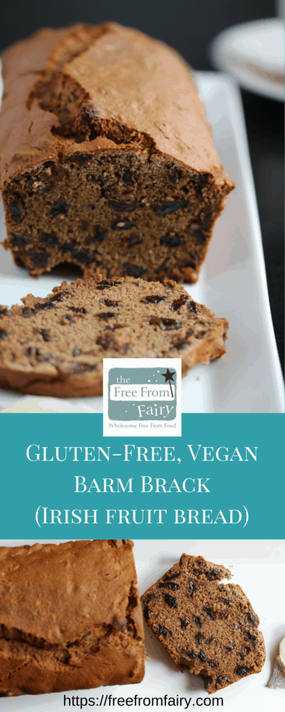 Make this traditional bram brack recipe (Irish fruit bread) with this simple #glutenfree #dairyfree #eggfree recipe from the Free From Fairy. It uses her revolutionary wholegrain gluten-free flour blend.