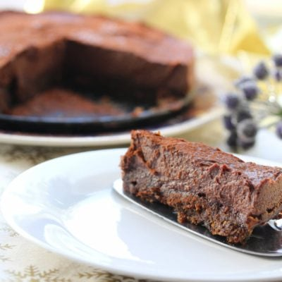 Chocolate Baileys Cashew Cheesecake