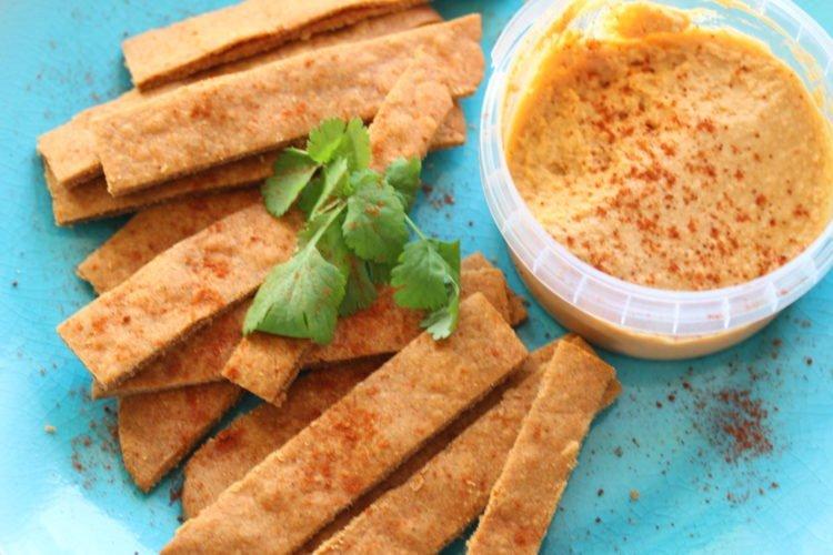 'Cheese-less' Crackers (Gluten-Free, Dairy-Free, Vegan)