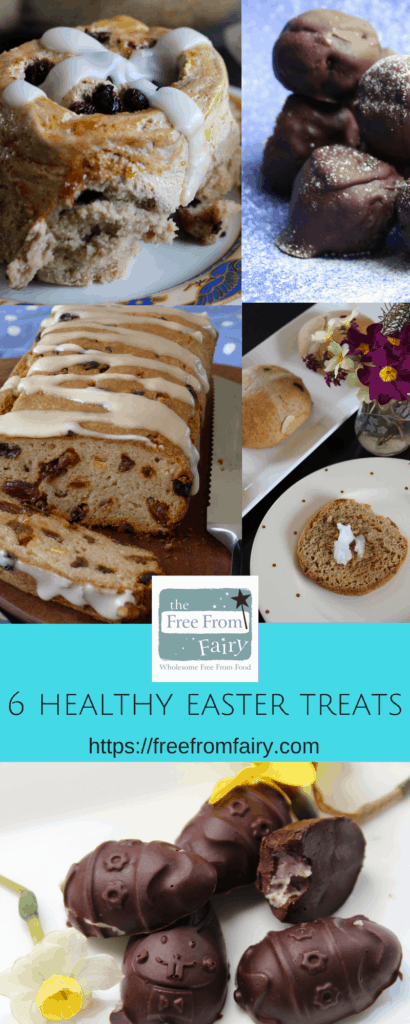 6 healthy Easter treats that you need to make today! #Easter #Eastertreats #healthyeastertreats #glutenfree #dairyfree #refinedsugarfree https://freefromfairy.com