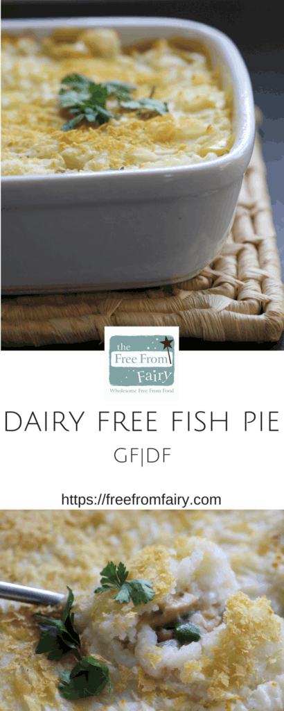 So simple to make, this gluten free and dairy fish pie is perfect at any time. The kids love it and the parents love how easy it is to make...