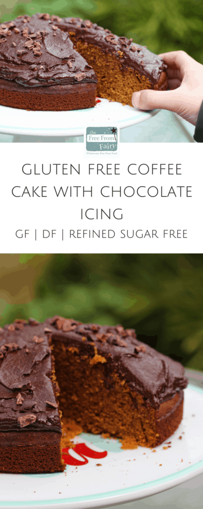 Gluten free coffee cake with chocolate icing. #freefromfairyflour #freefromfairy #glutenfree #dairyfree #refinedsugarfree