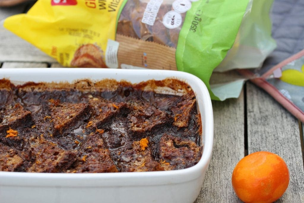 Gluten free bread and butter pudding #glutenfree #breadandbutterpudding #schar #lowfodmap #dairyfree #doTerra