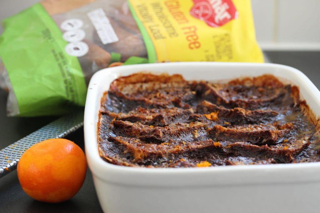 Chocolate orange #glutenfree bread and butter pudding. It's also #lowfodmap. #freefromfairy
