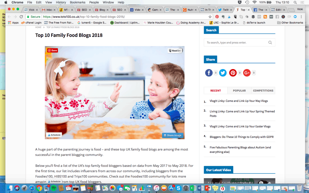 Top 10 Family Food Bloggers #freefromfairy