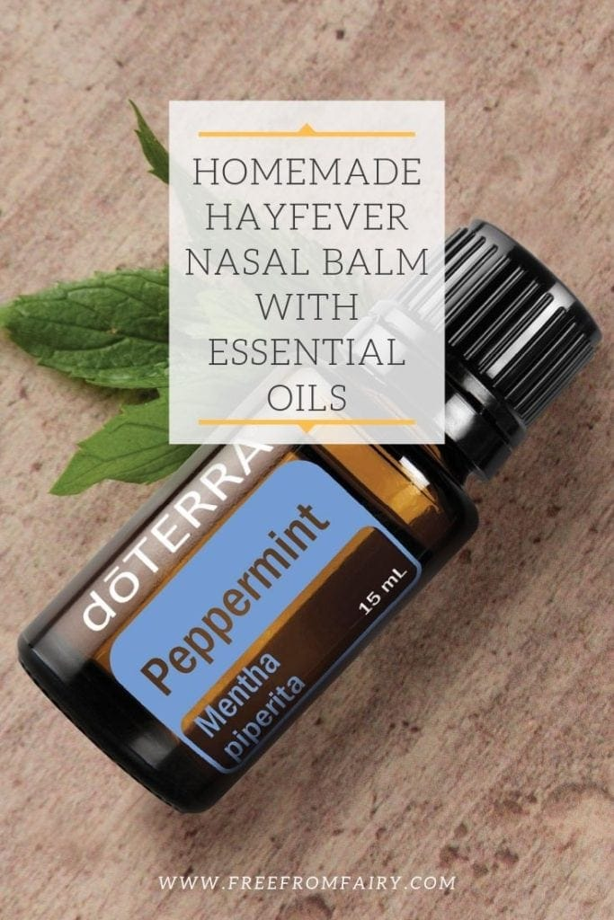 Hayfever nasal balm recipe. A HayMax copycat recipe. Traps pollen before it enters your nose. #hayfever #allergyrelief #hayfeverrelief #naturalallergyrelief