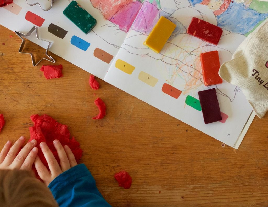 Tiny Land play dough is gluten free. Perfect for nurseries and play groups
