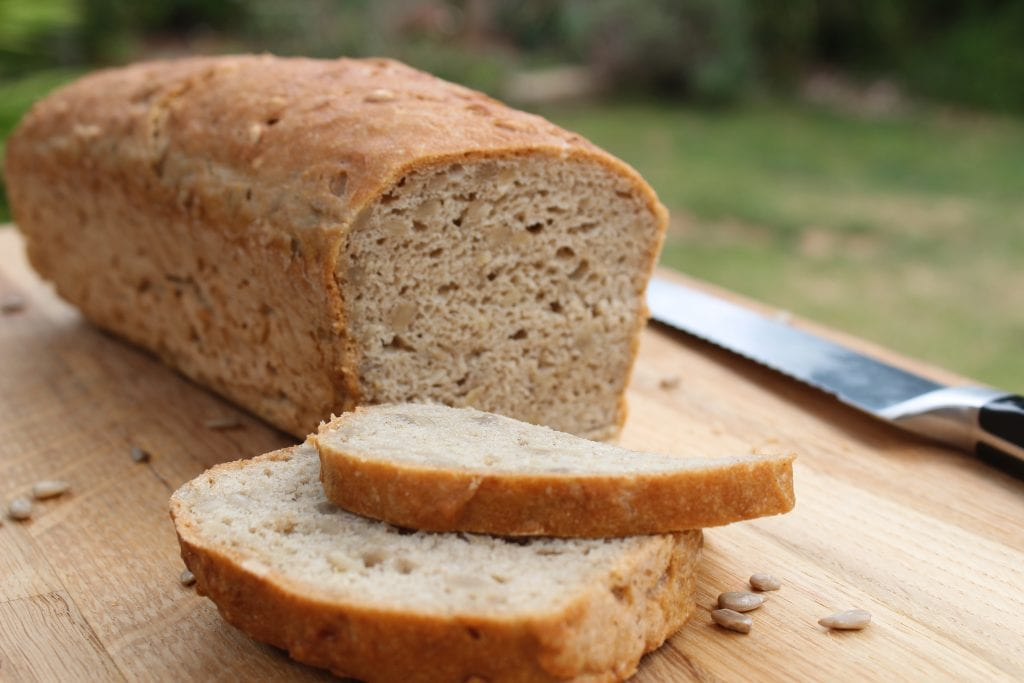 Healthy gluten free bread recipe using the Free From Fairy's wholegrain multipurpose gluten free flour blend.