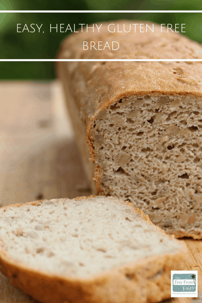 Healthy gluten free bread recipe. Made with the Free From Fairy's wholegrain gluten free flour. So simple but totally delicious. #glutenfree #dairyfree #glutenfreebread #healthybread #wholegrainbread #easyglutenfreebread