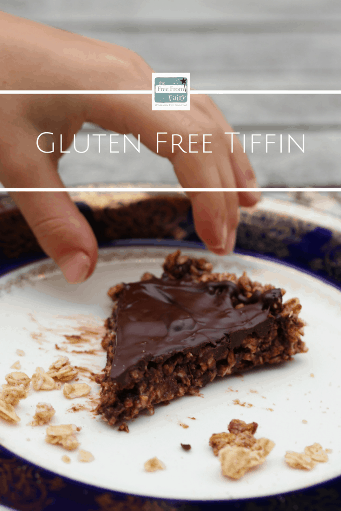 Simple gluten free tiffin recipe from @freefromfairy. It's #glutenfree. #chocolate #chocolaterecipe #glutenfreetiffin #tiffinrecipe #granola #naturespath