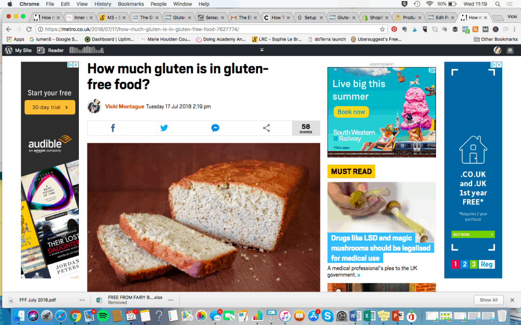 How much gluten is in gluten free food? #glutenfree #gluteninglutenfreefood #metro #freefromfairy
