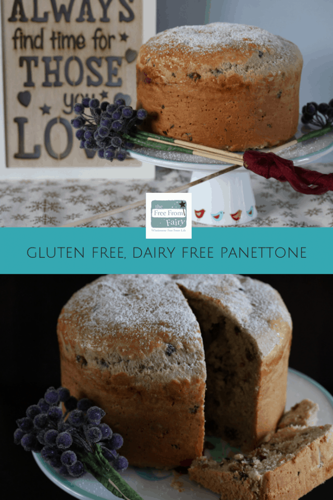 Make a gluten free (and dairy free) panettone this Christmas and wow your friends and family! #glutenfree #dairyfree #panettone #recipe #freefromfairy #glutenfreeflour