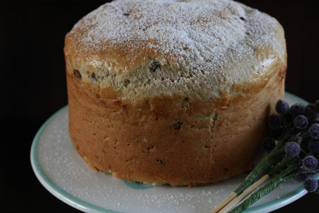 gluten free panettone, with dairy free options. #glutenfree #italian #christmas #recipe