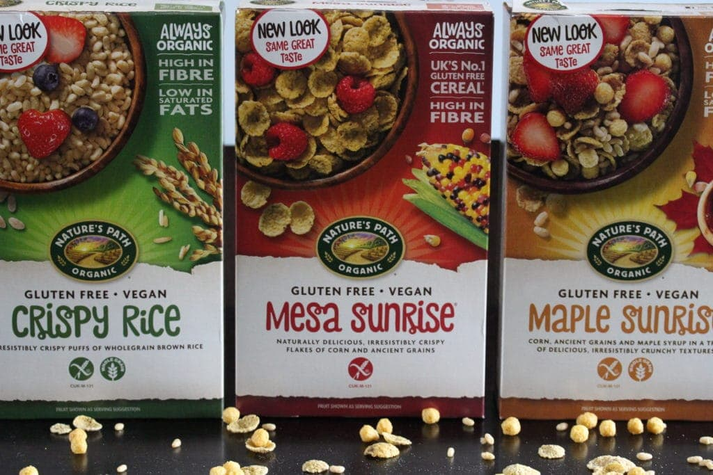 Nature's Path cereals - updated design