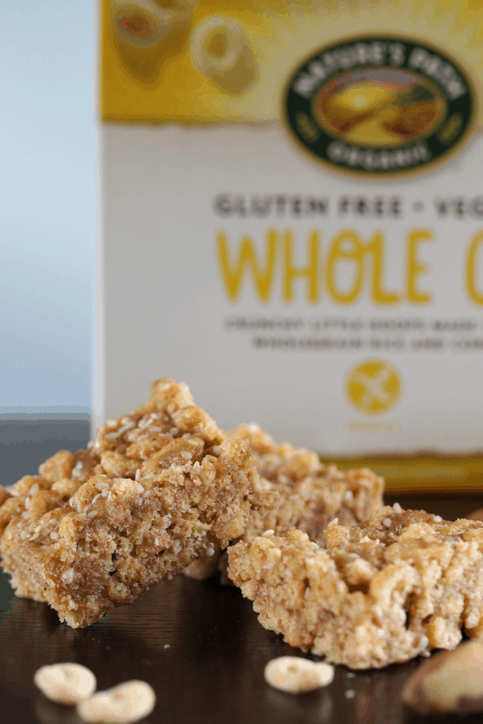 Gluten free and vegan cereal bar recipe from the Free From Fairy. This cereal bar is made with Nature's Path O's. #glutenfree #dairyfree #eggfree #vegan #freefromfairy #freefromrecipe #veganrecipe