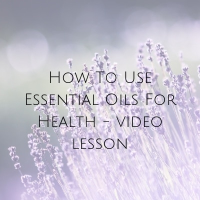Essential oil lesson - sign up