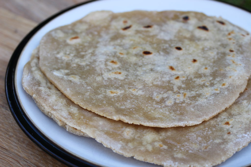 A pile of gluten free roti made with wholegrain gluten free atta from the Free From Fairy #wholegrain #roti #glutenfree #chapati #Indianbread #flatbread #freefromfairy #glutenfreeatta
