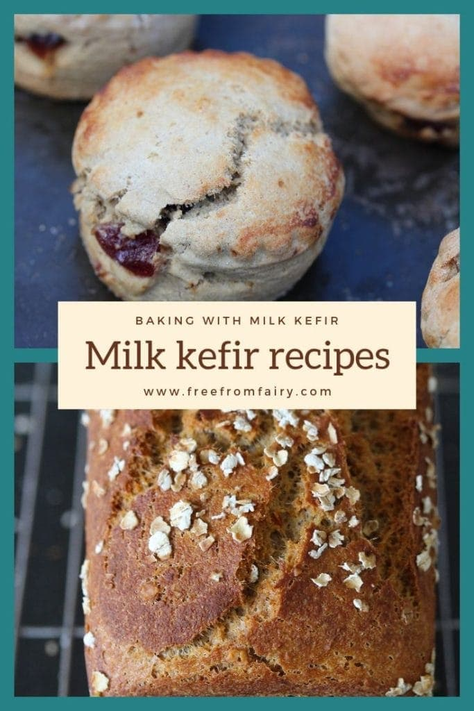 Get excess milk kefir? Discover amazing recipes that use it for incredible flavour and rise. #bakingwithkefir #kefirrecipes #kefir #milkkefir #howtomakemilkkefir