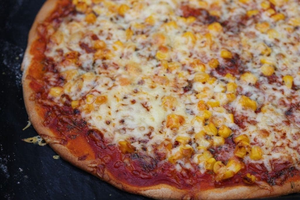 Gluten free pizza close up