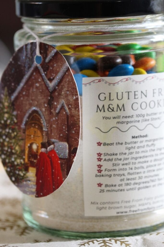 Gluten free cookies in a jar. The perfect gift.