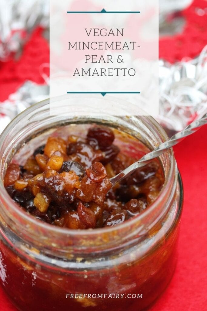 A simple homemade vegan mincemeat that is suitable for people on the gluten free diet or who have coeliac disease. #glutenfreechristmas #glutenfreemincemeat #veganmincemeat
