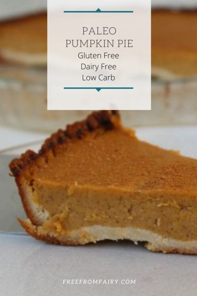 This paleo pumpkin pie can be made suitable for the keto diet as well as anyone with coeliac disease or following a refined sugar free diet. #glutenfree #dairyfree #paleopumpkinpie #glutenfreepumpkinpie