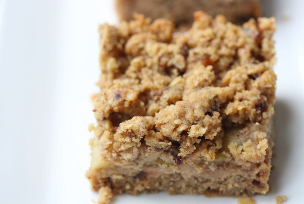Honey flapjack with apple layer